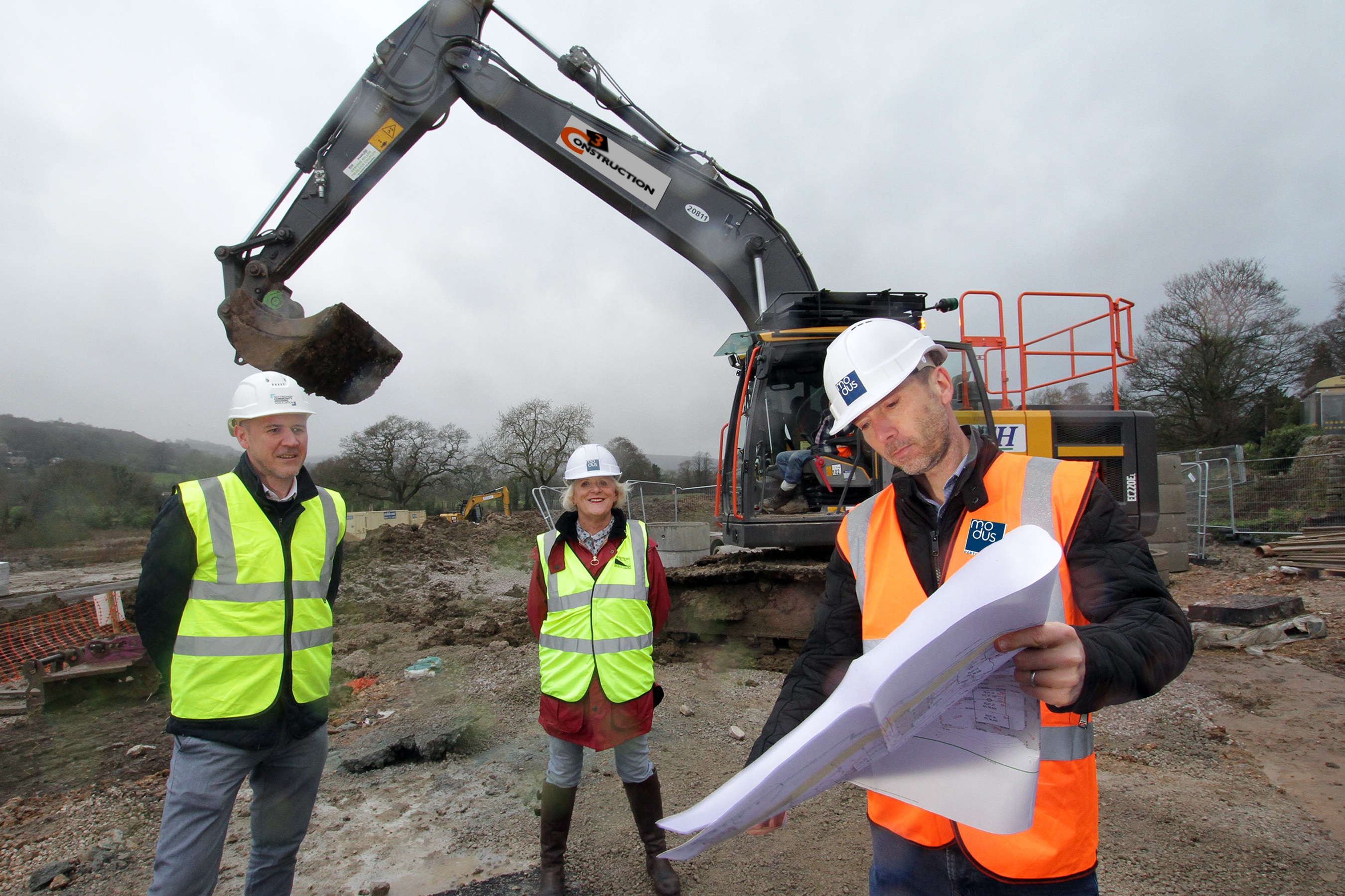 In the beautiful valley, just north of Matlock, work has begun on 57 new affordable homes.