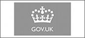 The word GOV.UK in white on grey background