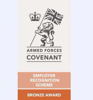 Derbyshire Dales District Council has been awared the Armed Services Covenant Employer Recognition Scheme Bronze Award.