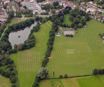 Aerial view of Ashbourne Recreation Ground