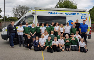 Youngsters at a junior school in Ashbourne have been celebrating becoming the latest Safer Neighbourhood Stars.