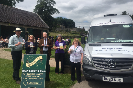 The Ashbourne shuttle bus, pictured here stopping off at Tissington