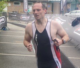 Ashbourne Leisure Centre duty manager Carl Wingfield competing in the Ashbourne Trathlon