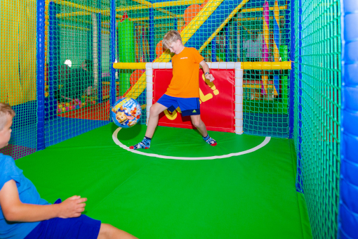 Football in the new soft play area
