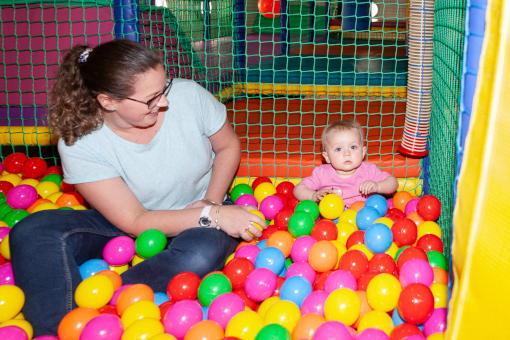 New soft play area ballpit