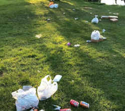 We are appealing to visitors to show more respect after the Derbyshire Dales' main parks were left strewn with litter last weekend.