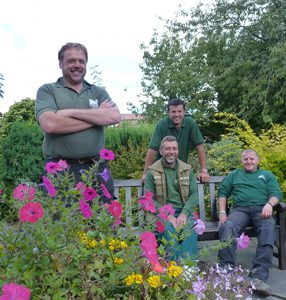 Pictured are some members of the District Council team that maintains Bath Gardens (from left) Neil Mather, Robert Gregory, Ben Wieberg and Martin Spenceley