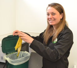 Free caddy liners are currently being delivered to every home in the Derbyshire Dales - with a big message to residents to recycle more food waste.