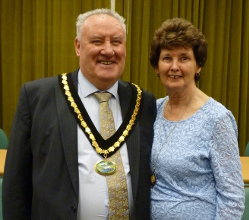 Chairman of the District of the Derbyshire Dales Cllr Albert Catt (left) with Vice-Chairman Cllr Tom Donnelly