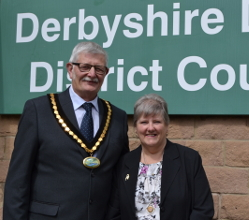 Long standing Matlock councillor Steve Flitter is Derbyshire Dales District Council's civic leader in the coming year.