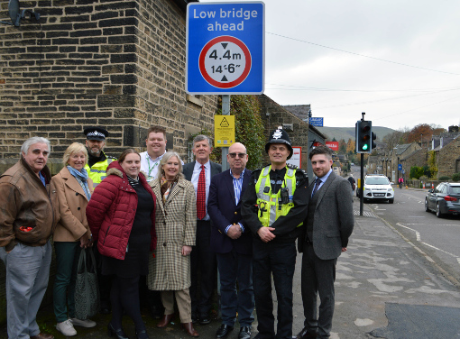From left: Cllr. Peter Mander (Hathersage Parish Council, chair), Cllr. Pauline Whitney (Hathersage Parish Council), Inspector Dave Nash (Derbyshire Dales Local Policing Unit), Karen Cooper (Safer Derbyshire Dales Community Safety Partnership), Shaun Herrett (Derbyshire Dales District Council), Cllr. Jean Monks (Derbyshire Dales District Councillor), Steve Lawless (Hathersage Parish Council- clerk), Chris Pearson (Health Tec Medical), Sgt. Andy Wordsworth (Derbyshire Rural Crime Team) and Daniel Cook (Mytec Group).