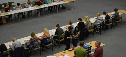 EU Referendum count at Arc Leisure Matlock