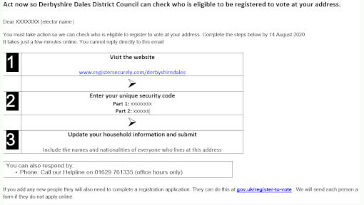 Electoral Canvass email screen shot 510px