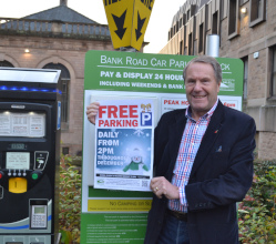 'Shop Local this Christmas' is the big message as we reintroduce free parking across the district again from 1st December.