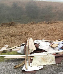 The fly-tip at Stanage Edge