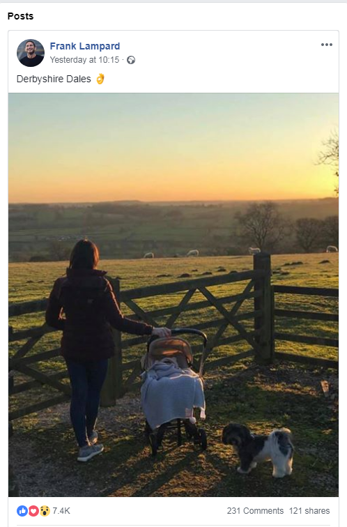 Frank Lampard Facebook post - Derbyshire Dales