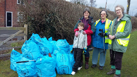 Local volunteers put off by weather conditions earlier in the month, were not deterred this last weekend when they re-arranged their litter picks and clean ups as part of this year's Great British Spring Clean.