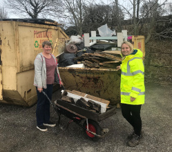 It was a busy half-term week on Matlock's Hurst Farm, where your District Council and partners organised two skip days to enable residents to clear backlogs of unwanted items.