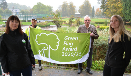 Hall Leys Park Green Flag 2020 510px
