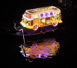 The 2016 winning boat at the Illuminations by teenager Isabel Flavell