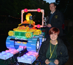 Teenager Isabel Fox-Wood has scooped the top prize for the second year in a row in the Matlock Bath Illuminations showpiece event – the famous parade of decorated boats.