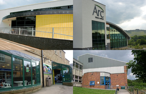 4 leisure centres montage
