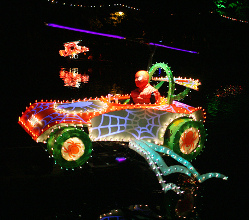 One of the fabulous decorated boats