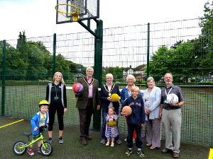 Work started early in July 2017 to convert one of the three tennis courts in Matlock's Hall Leys Park into a new multi-use games area (MUGA).