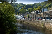 View of Matlock Bath from the banks of the River Derwent