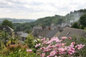 Roof tops in the village of Middleton by Wirksworth