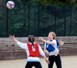 Back to netball in Baslow