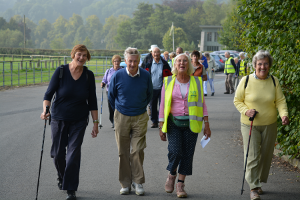 Cllr Carol Walker leading a recent health walk in Bakewell