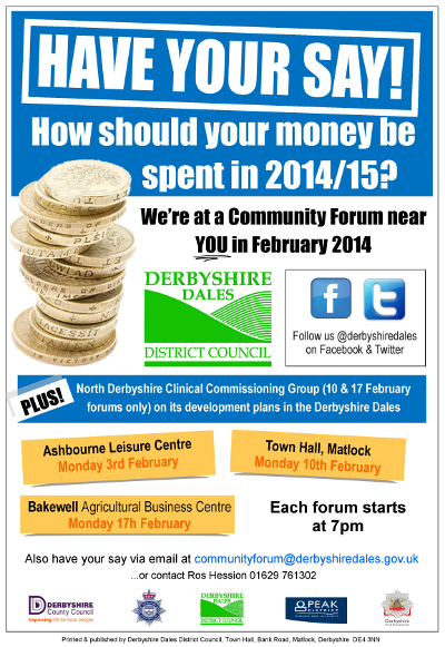 Community Forum poster Feb 2014