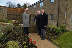 From left - The Lord-Lieutenant, Mr William Tucker; Cllr Lewis Rose, Leader of Derbyshire Dales District Council; and David Pickering, Group Chief Executive of Waterloo Housing Group