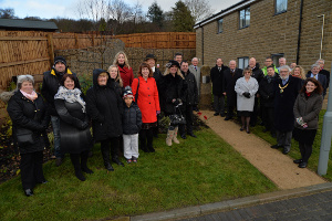 Residents and guests at the opening of Poppy Fields Close