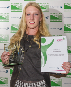 Tasmin Boam 2014 Young Sportswoman of the Year (photo: xciteimages.com)