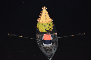 Candle boat 2015 designed by pupils from Matlock's Highfields School