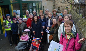 The Every Step Counts group prepare to set off from Bakewell Swimming Pool