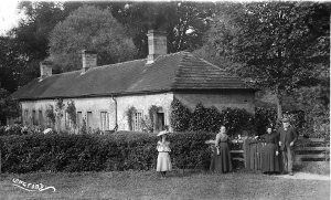 The former Longford Almshouses, pictured pre 1912