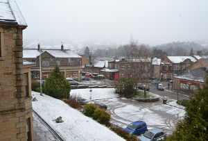 Matlock in the snow on 21 Jan 2015