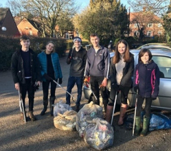 Your District Council is supporting environmentally-minded Ashbourne people across the age spectrum who have joined forces to clean up their town.