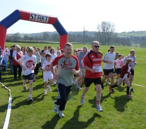 A previous Sport Relief event in Ashbourne