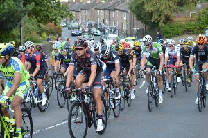 The Tour of Britain in Cromford last year