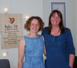 A new business workshop prompted two Matlock women to use their joint skills to help local people experiencing mental health issues, memory problems or emotional distress.