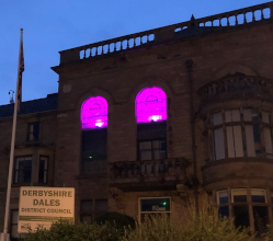 On Wednesday night (17 June) Matlock Town Hall was illuminated to underline our commitment to equality and diversity.