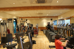 The refurbished gym at Wirksworth Leisure Centre - Feb 2012