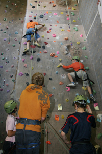 Wirksworth leisure Centre - climbing wall