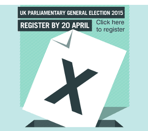 Registration deadline is 20 April - Don't miss out, register to vote today!